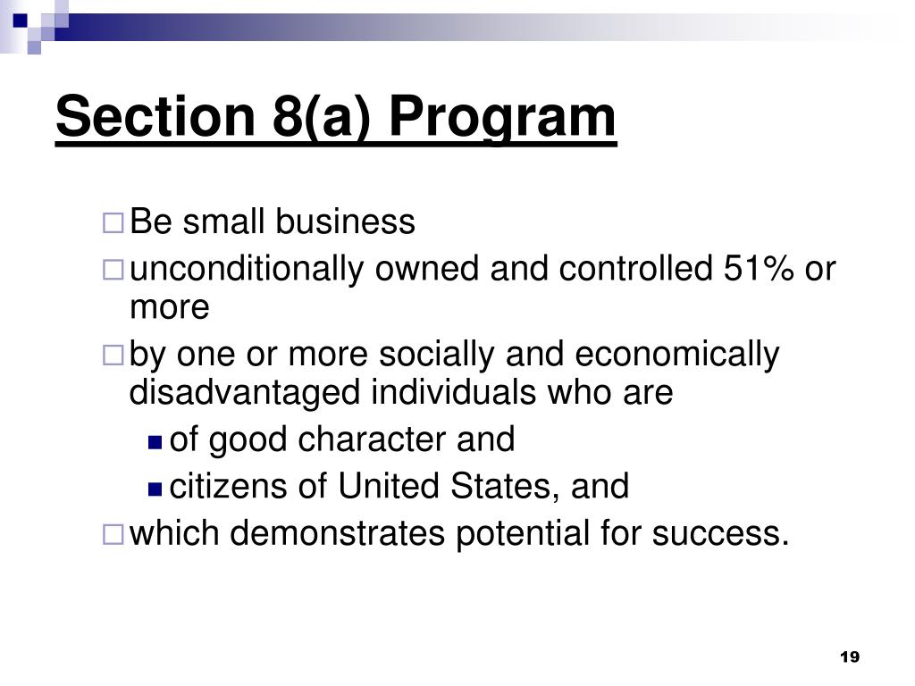 Section 8(a) Program