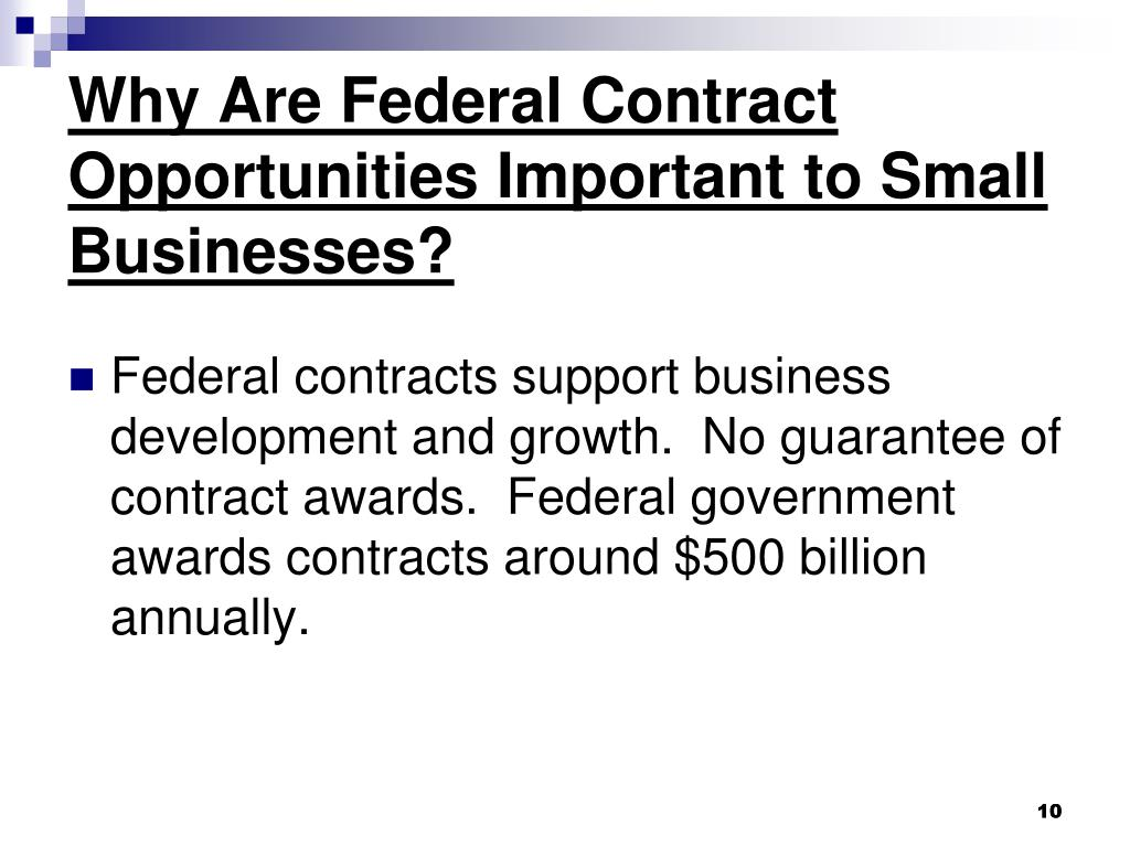 Why Are Federal Contract Opportunities Important to Small Businesses?
