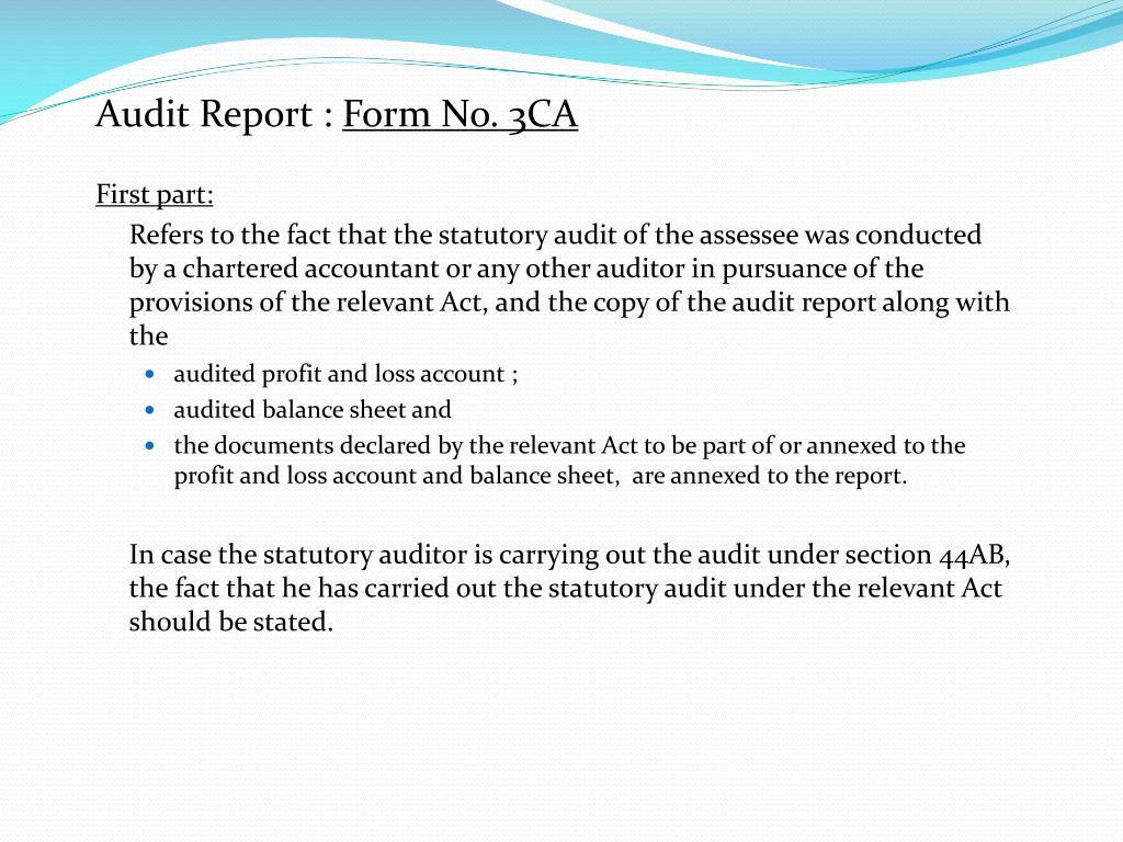 Audit Report :