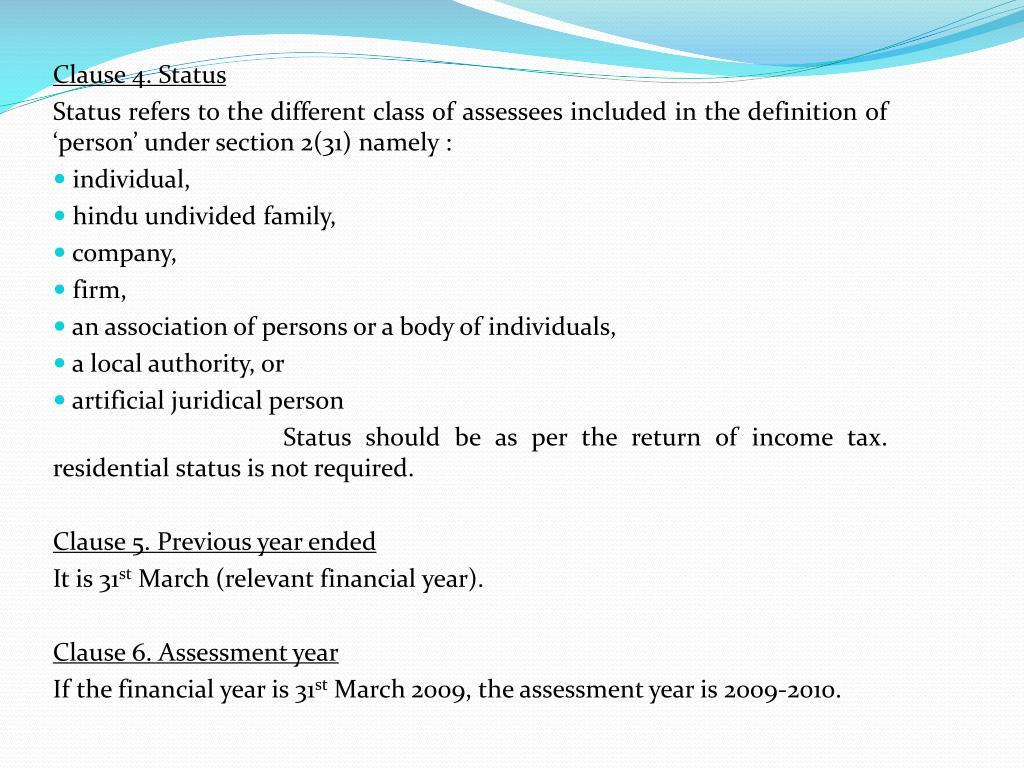Clause 4. Status