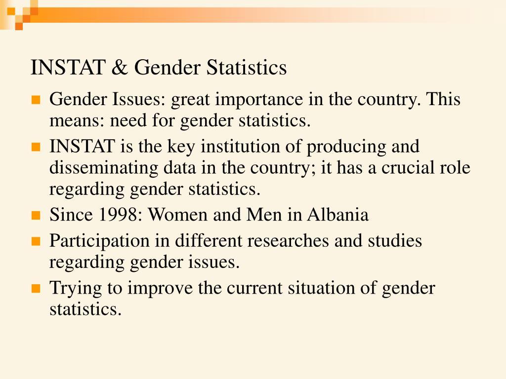 INSTAT & Gender Statistics