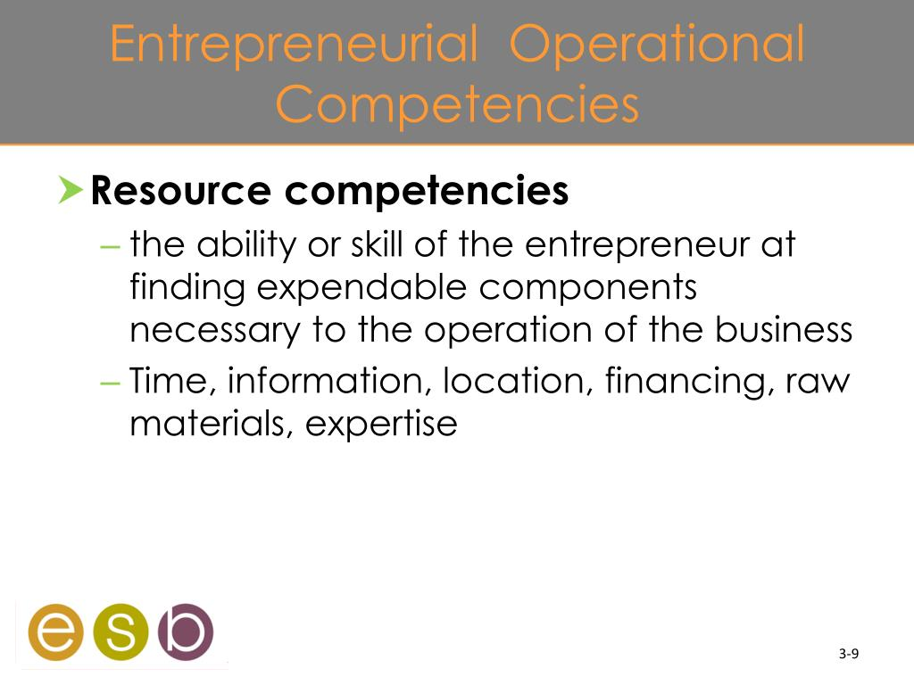 Entrepreneurial  Operational Competencies