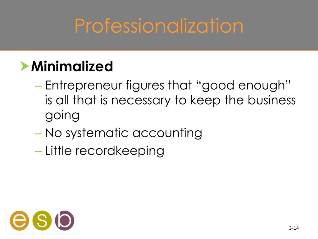 Professionalization