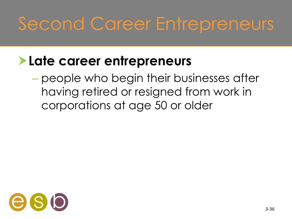 Second Career Entrepreneurs
