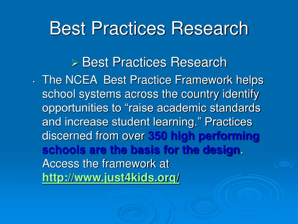 Best Practices Research