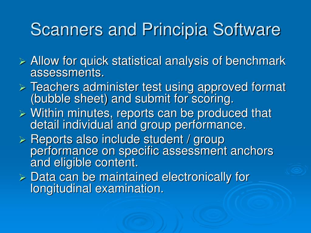 Scanners and Principia Software
