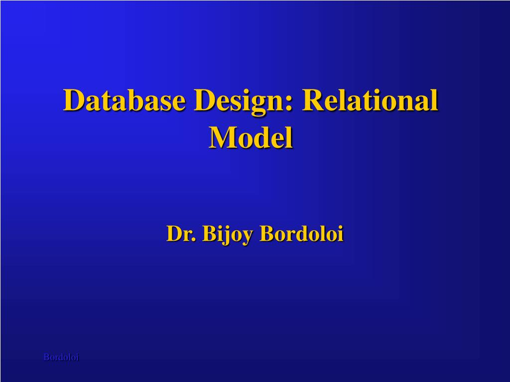 Database Design: Relational Model