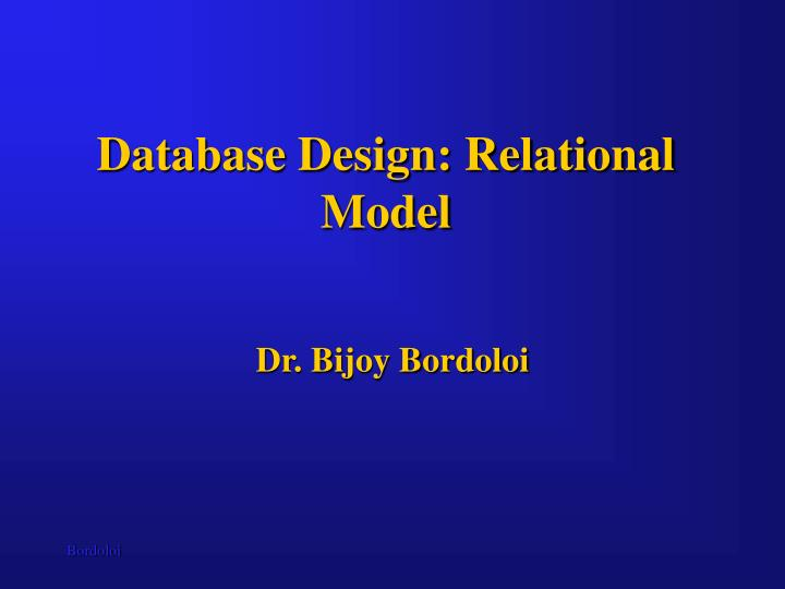 Database design relational model