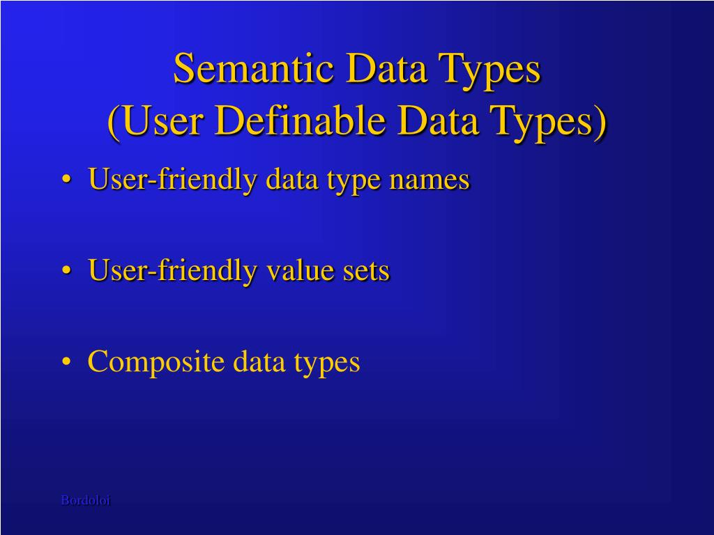 Semantic Data Types
