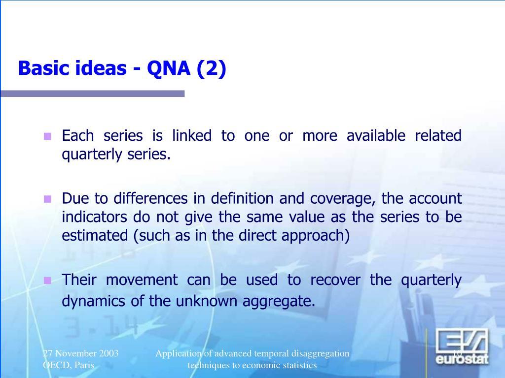 Basic ideas - QNA (2)