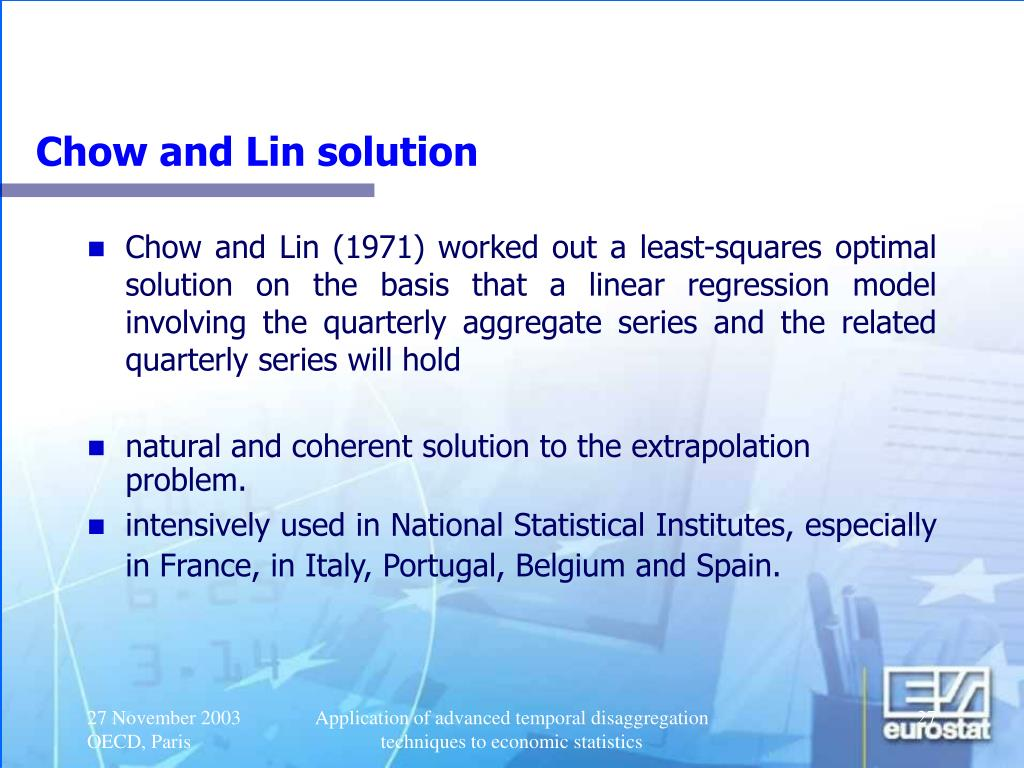 Chow and Lin solution