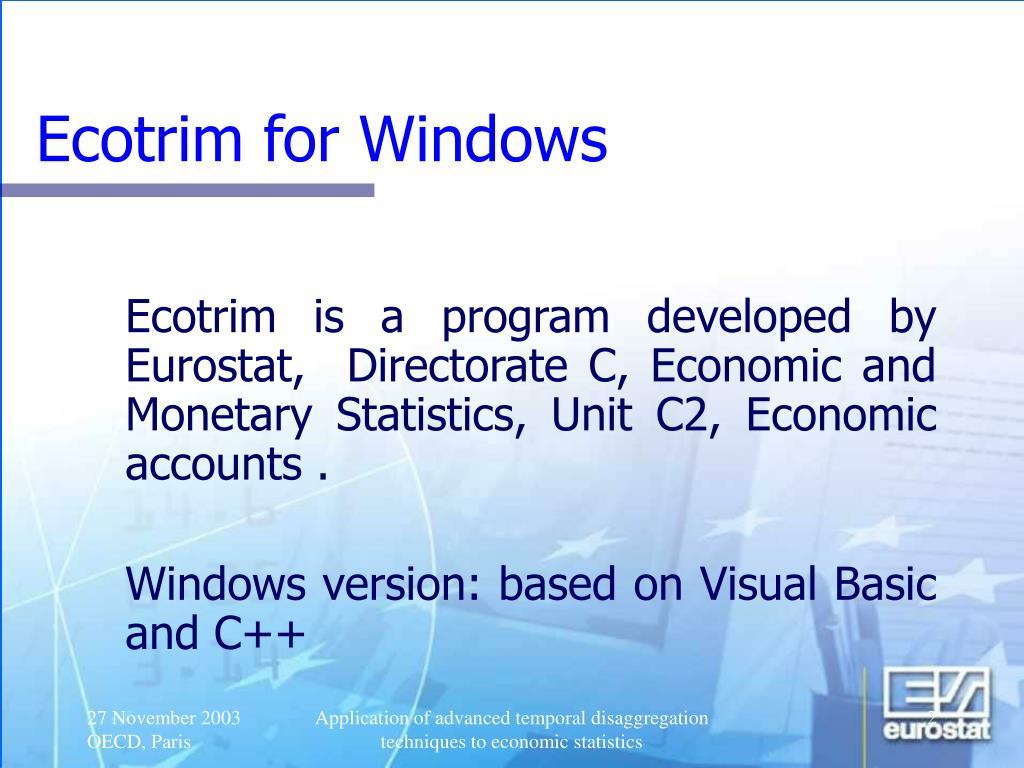 Ecotrim for Windows