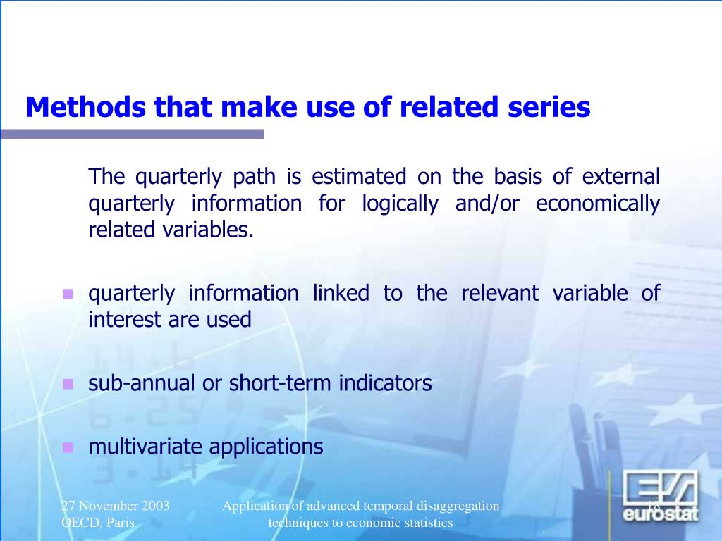 Methods that make use of related series