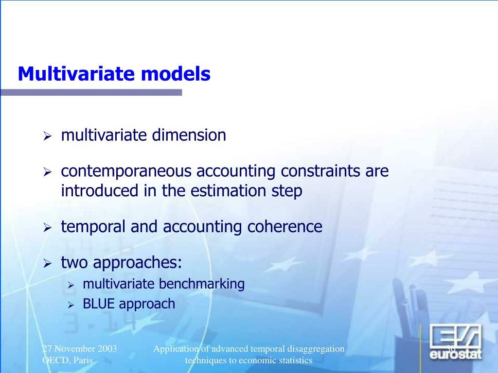 Multivariate models