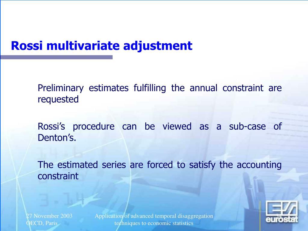 Rossi multivariate adjustment