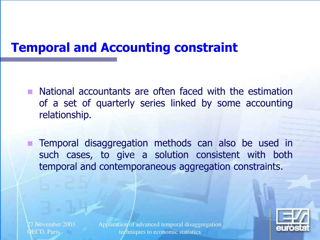 Temporal and Accounting constraint