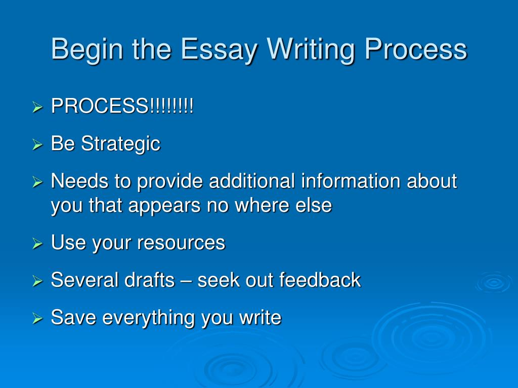 Begin the Essay Writing Process