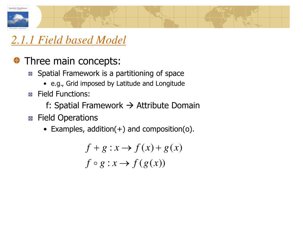 2.1.1 Field based Model