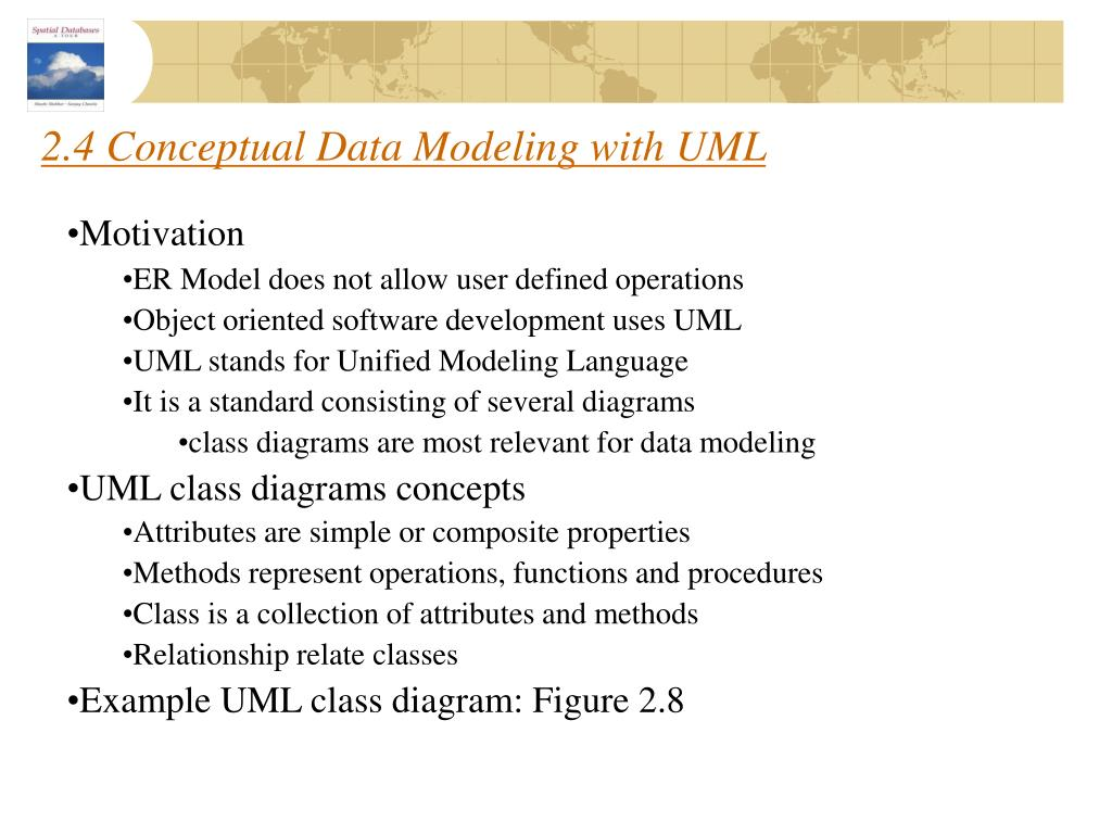 2.4 Conceptual Data Modeling with UML