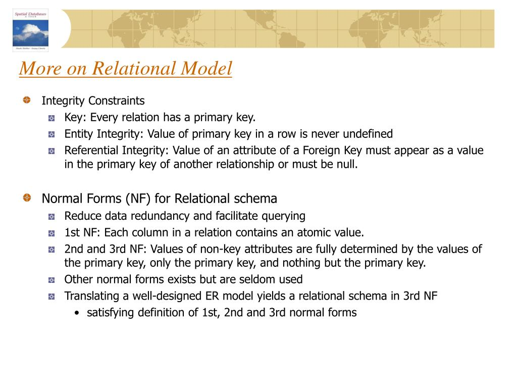 More on Relational Model