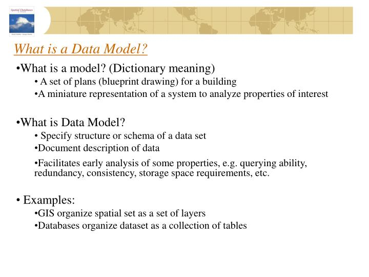 What is a data model