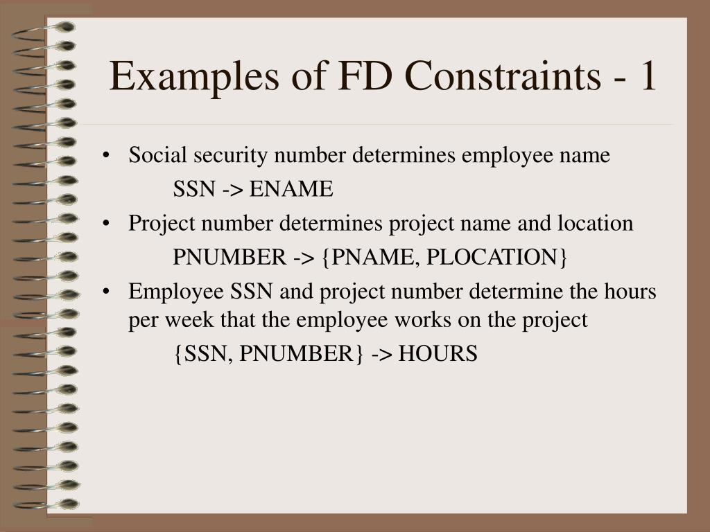 Examples of FD Constraints - 1