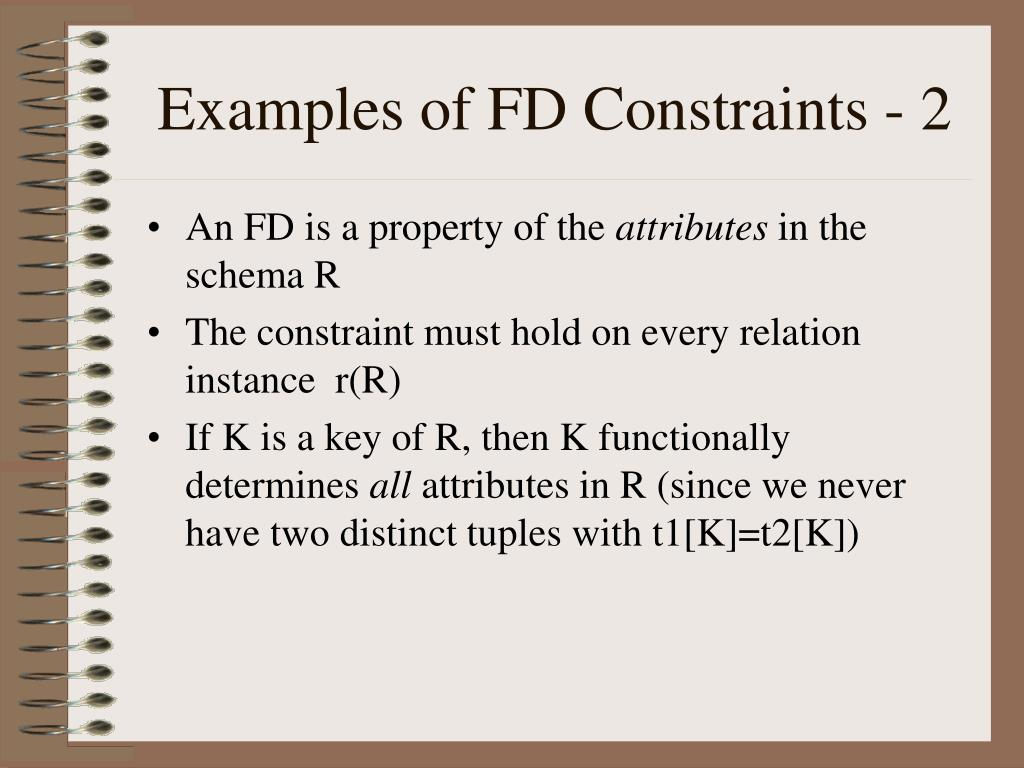 Examples of FD Constraints - 2
