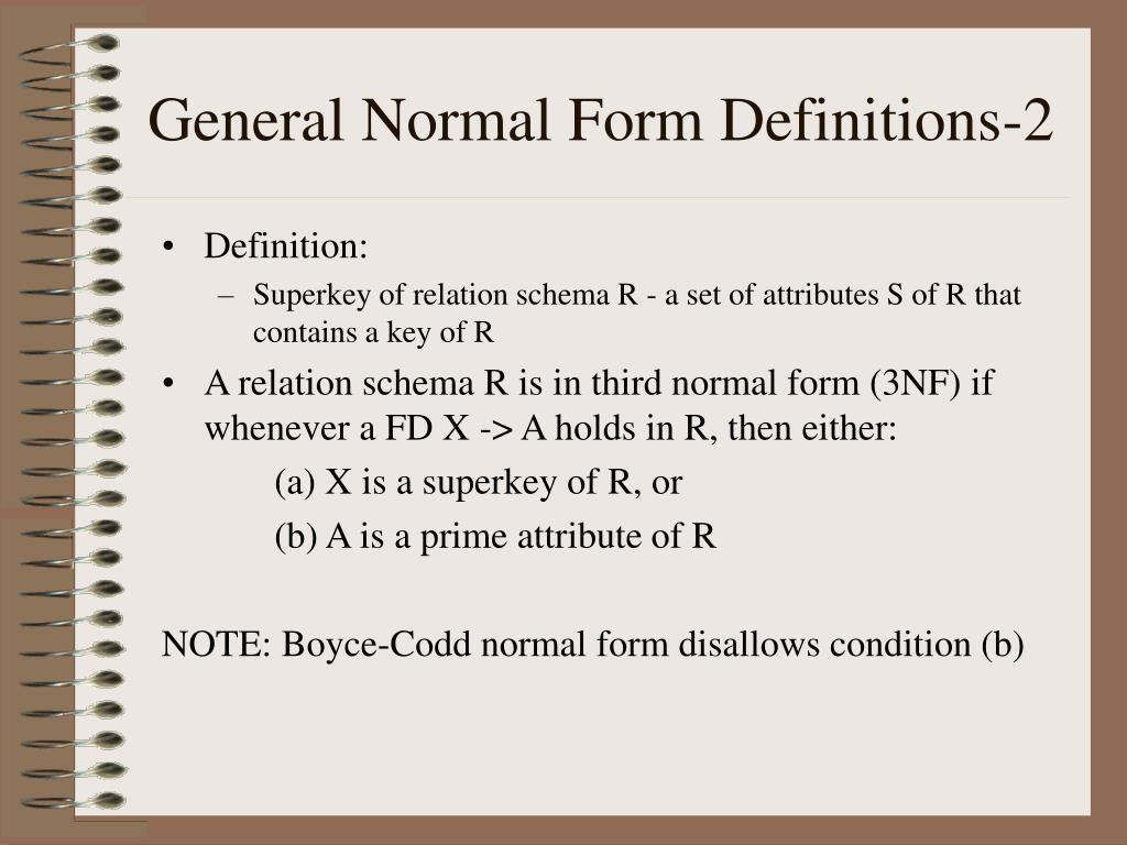 General Normal Form Definitions-2