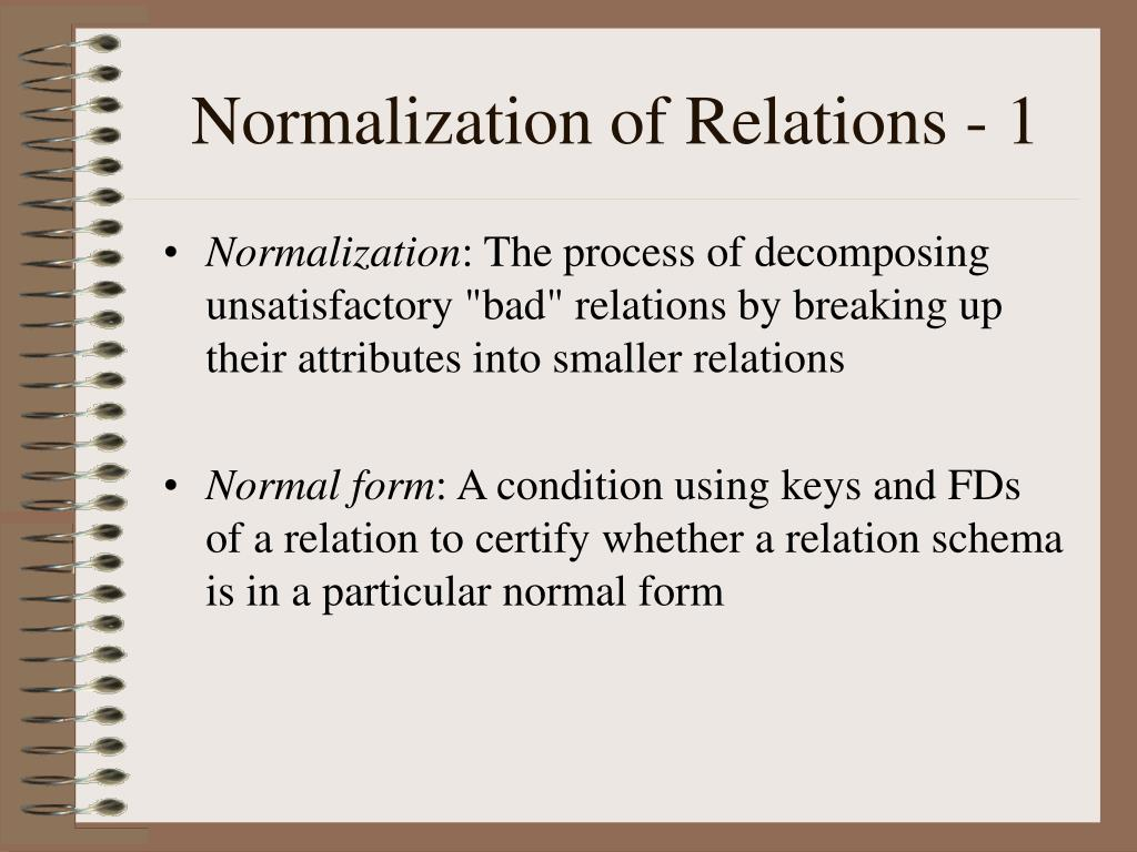 Normalization of Relations - 1