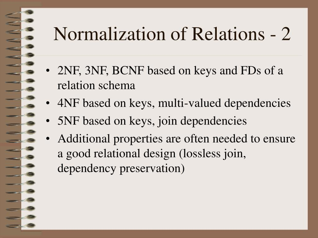 Normalization of Relations - 2