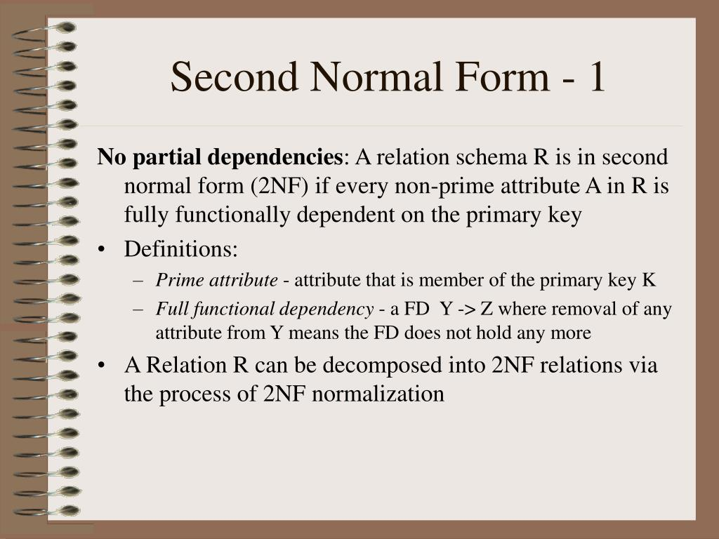 Second Normal Form - 1