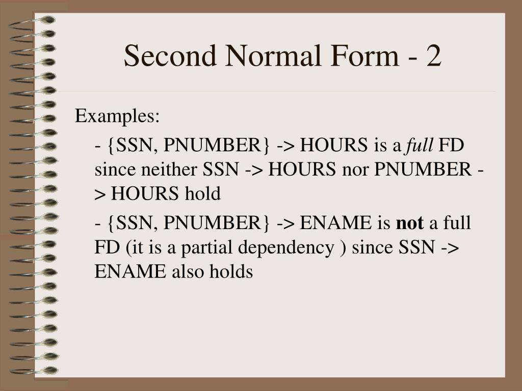 Second Normal Form - 2