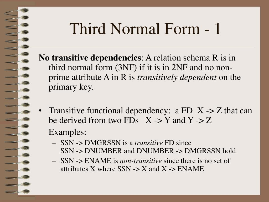 Third Normal Form - 1
