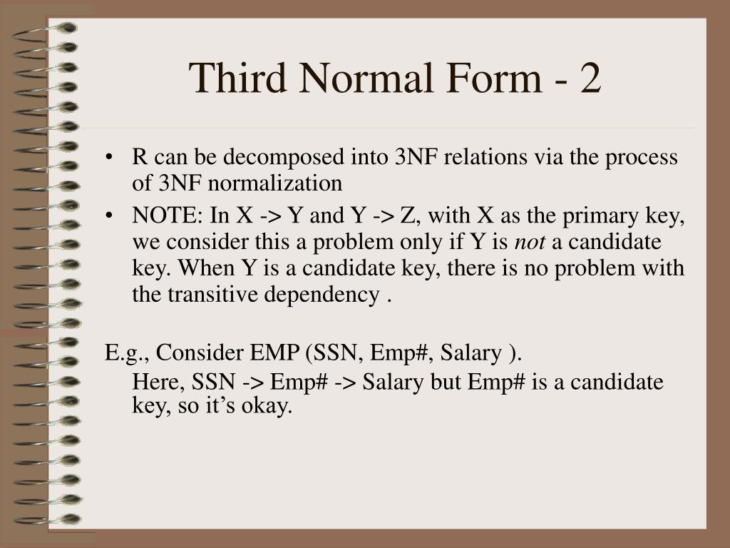 Third Normal Form - 2