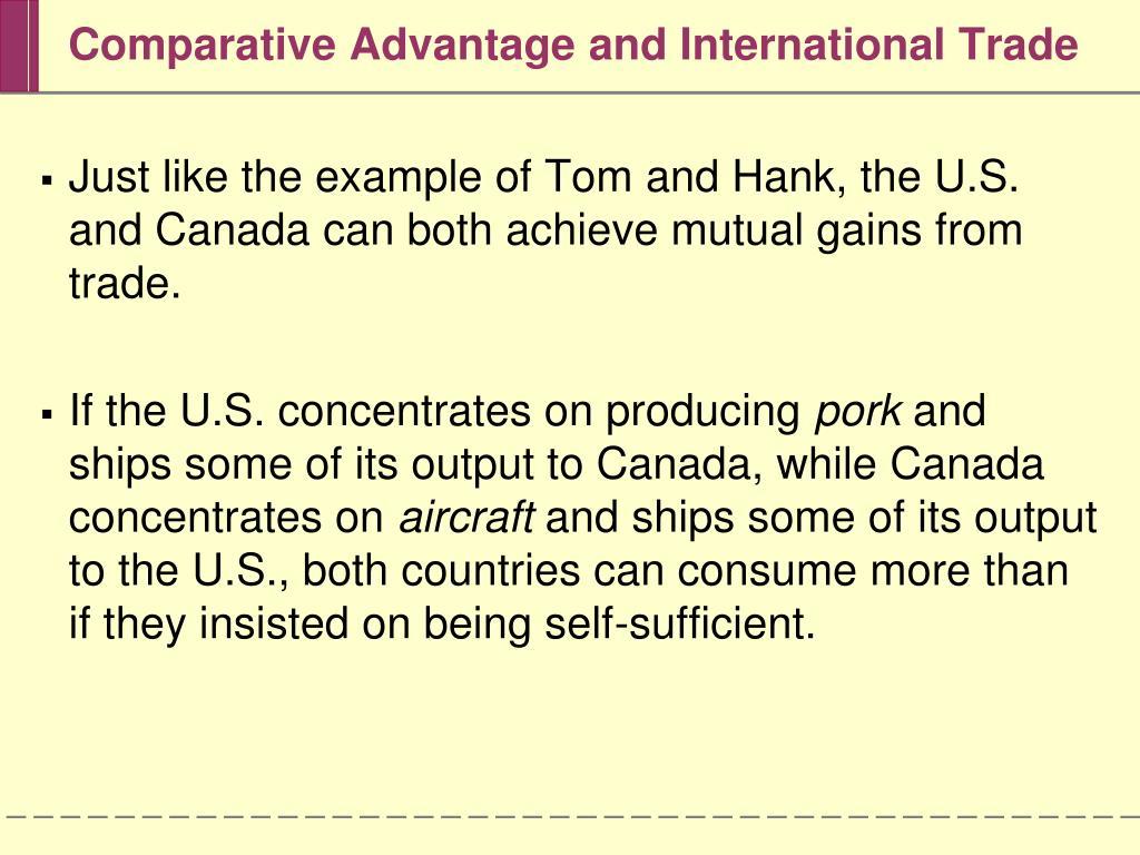 Comparative Advantage and International Trade