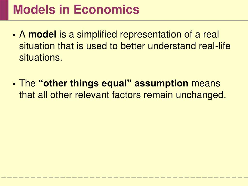 Models in Economics