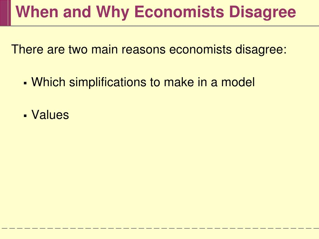 When and Why Economists Disagree