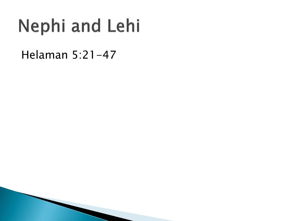 Nephi and