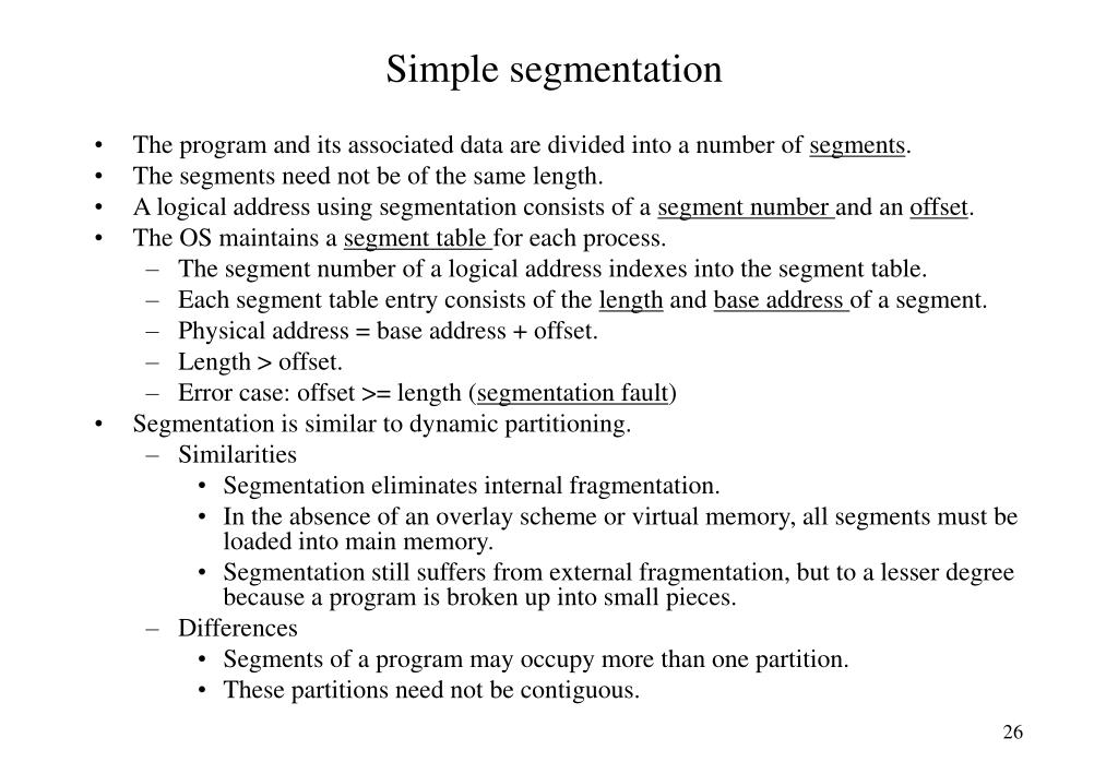 Simple segmentation