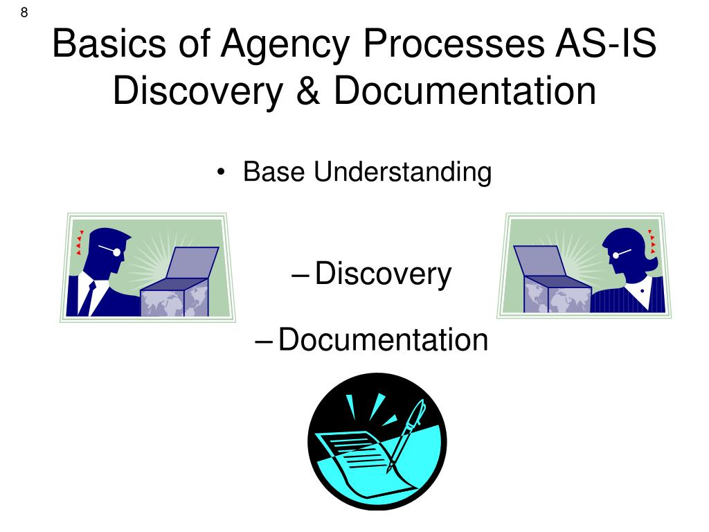Basics of Agency Processes AS-IS Discovery & Documentation
