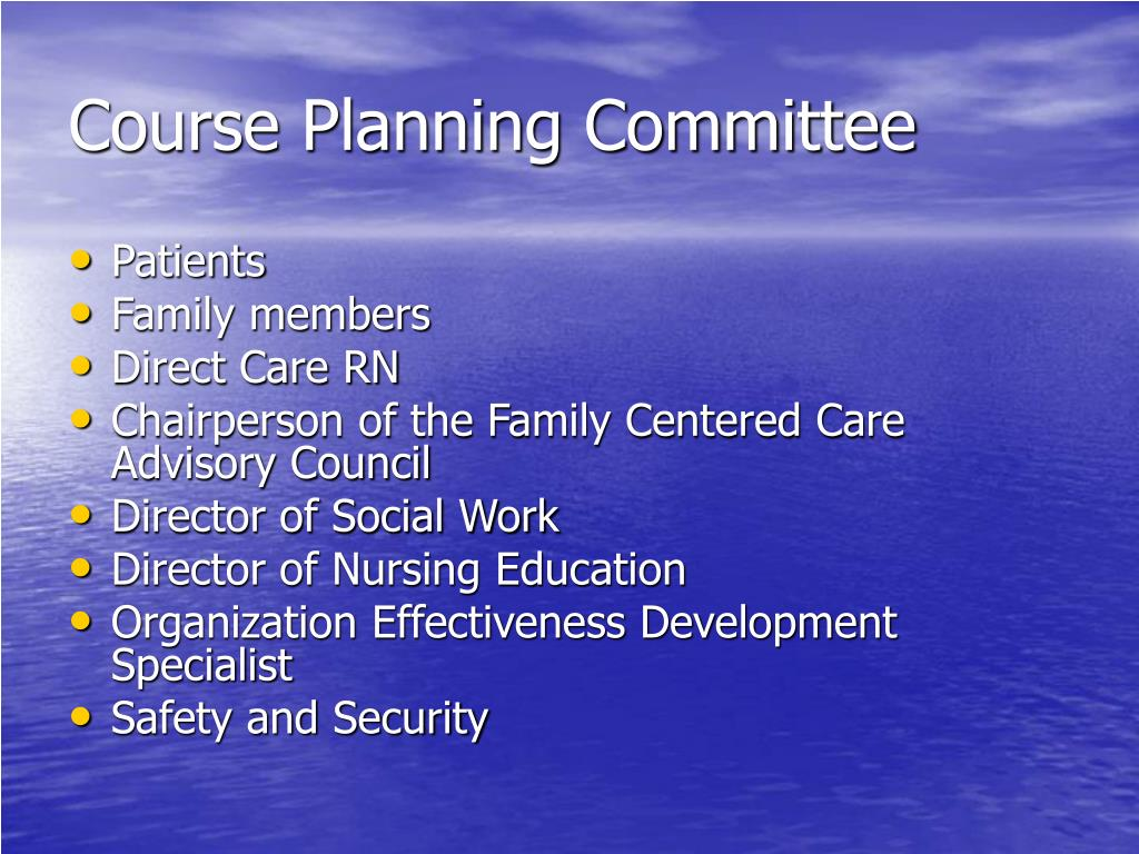 Course Planning Committee