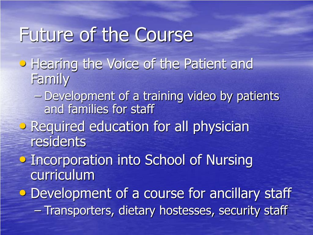 Future of the Course