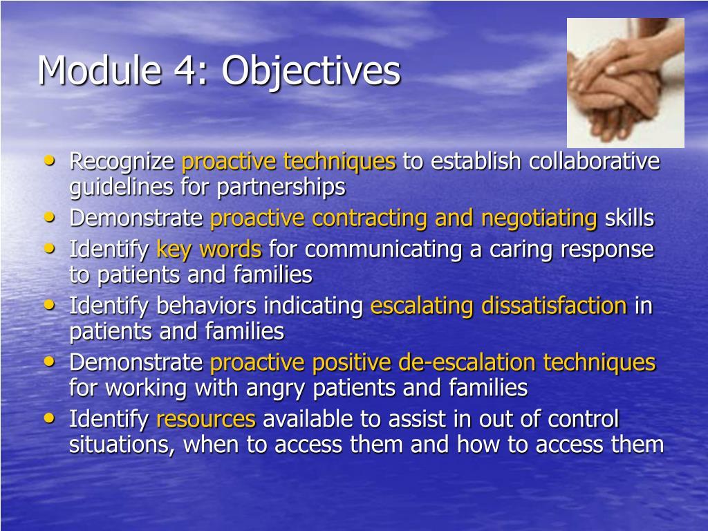 Module 4: Objectives