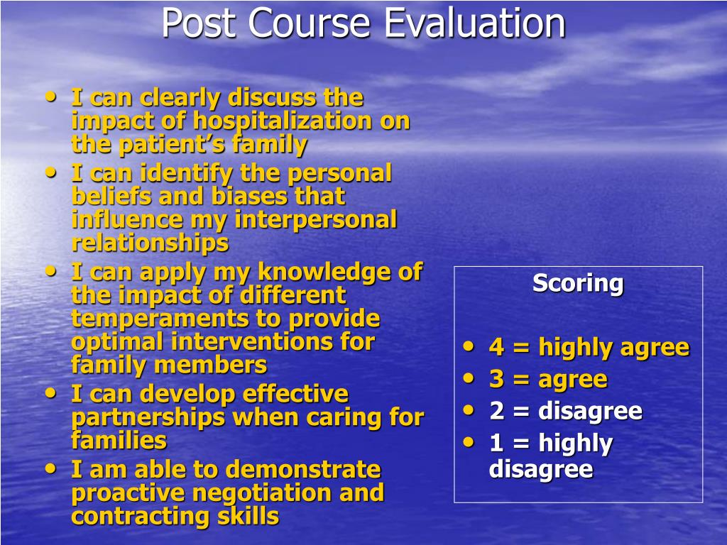 I can clearly discuss the impact of hospitalization on the patient's family
