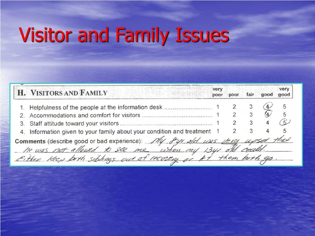 Visitor and Family Issues