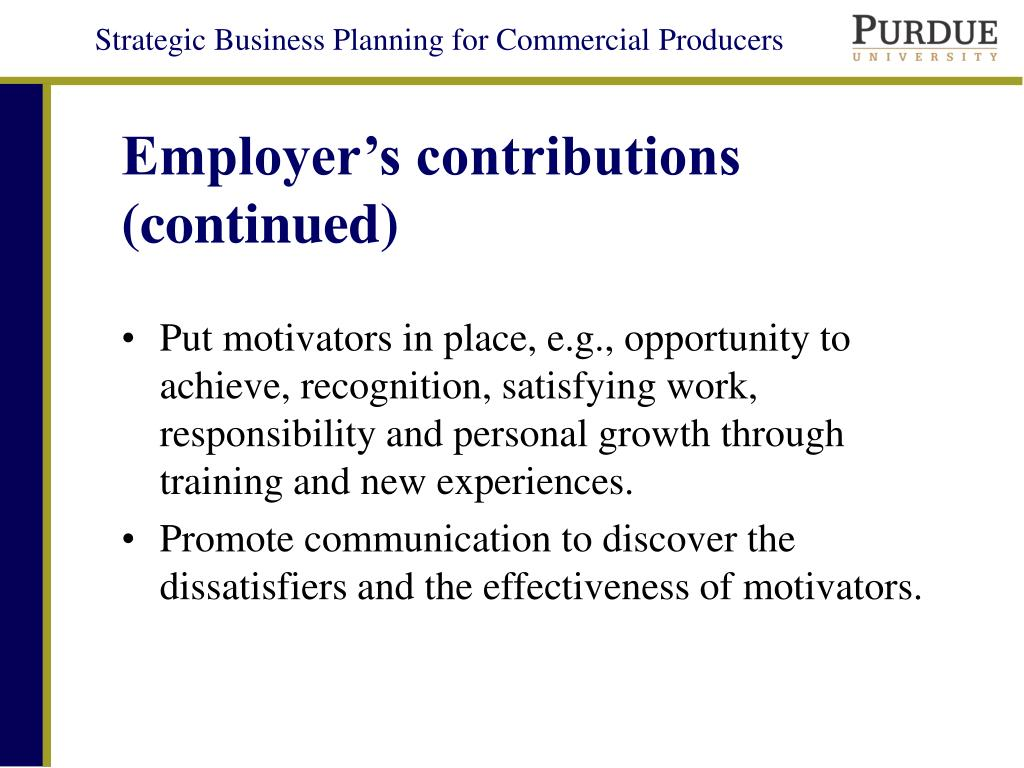 Employer's contributions (continued)