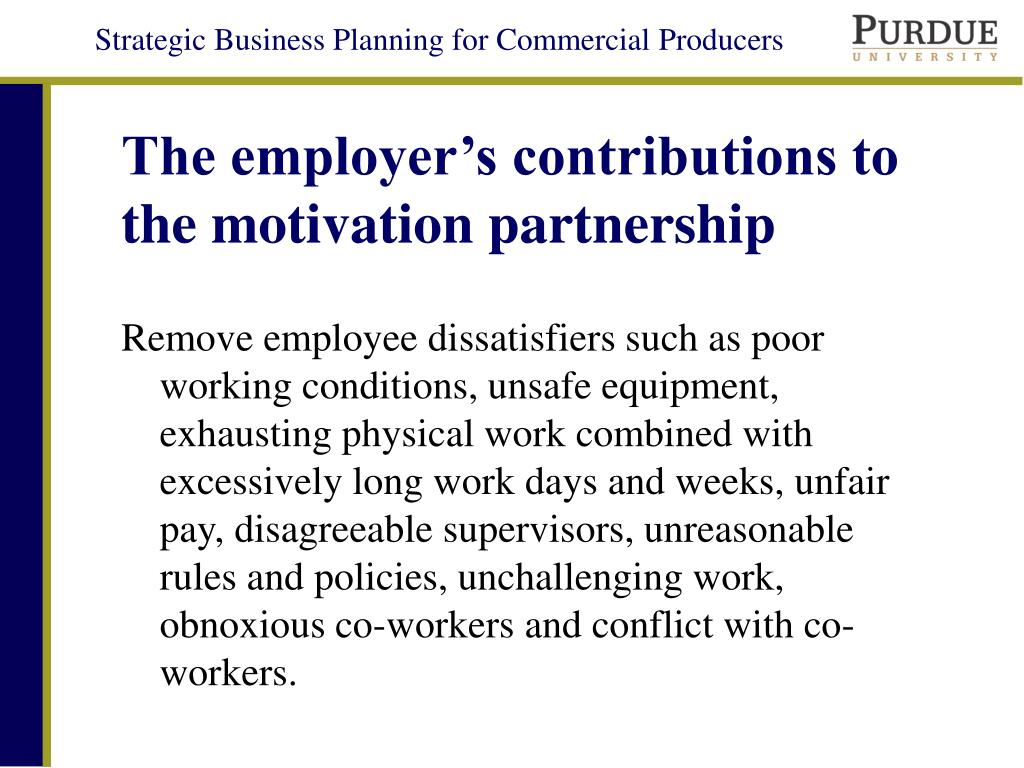 The employer's contributions to the motivation partnership