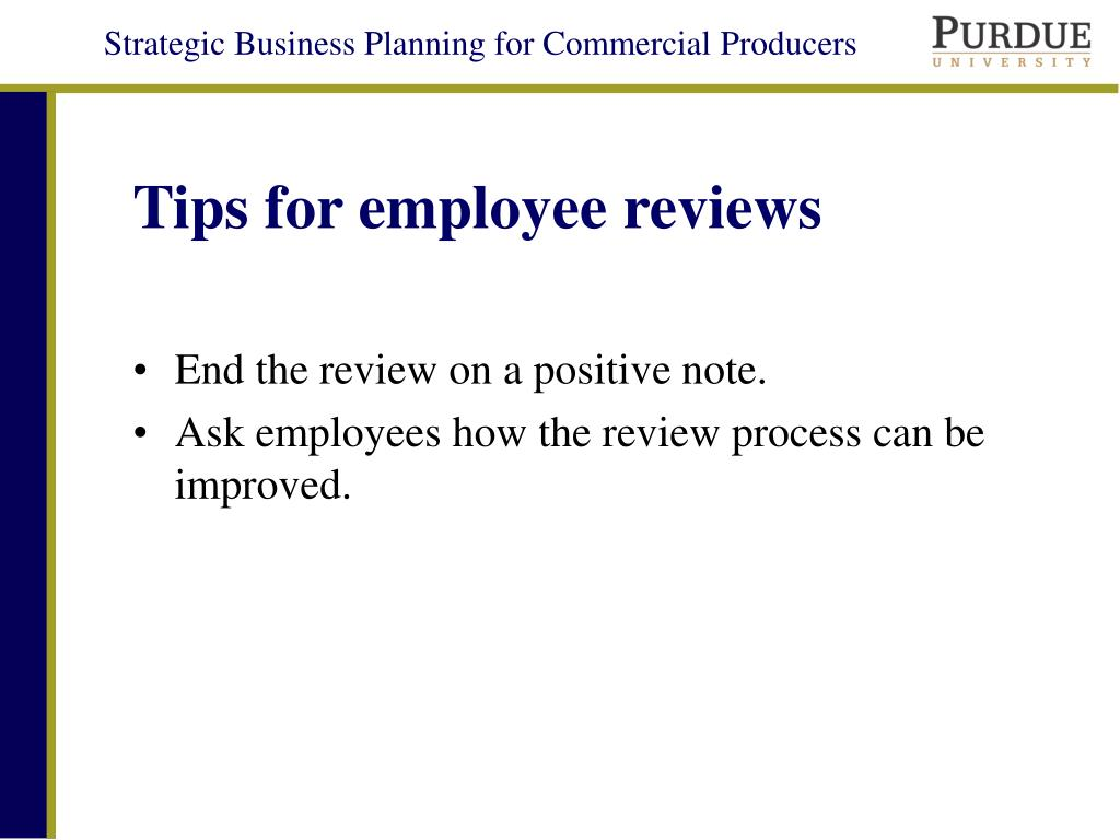 Tips for employee reviews