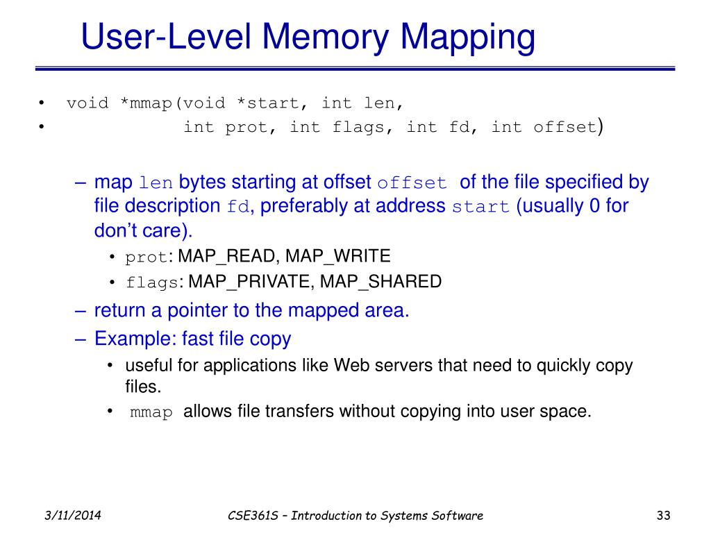 User-Level Memory Mapping