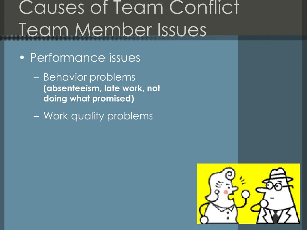 Causes of Team Conflict